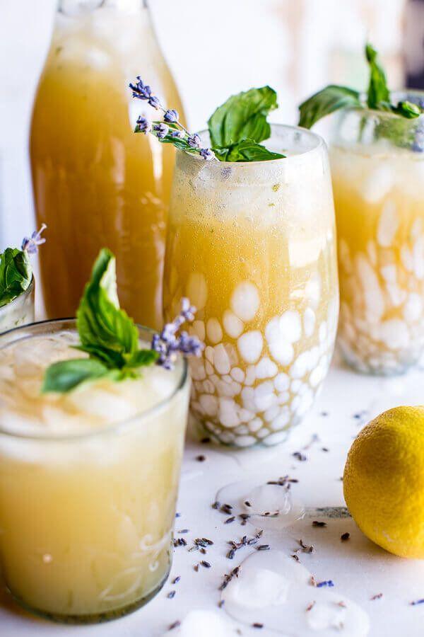 "<strong>Get the <a href=""https://www.halfbakedharvest.com/lavender-basil-lemonade/"" target=""_blank"">Lavender Basil Lemonade r"