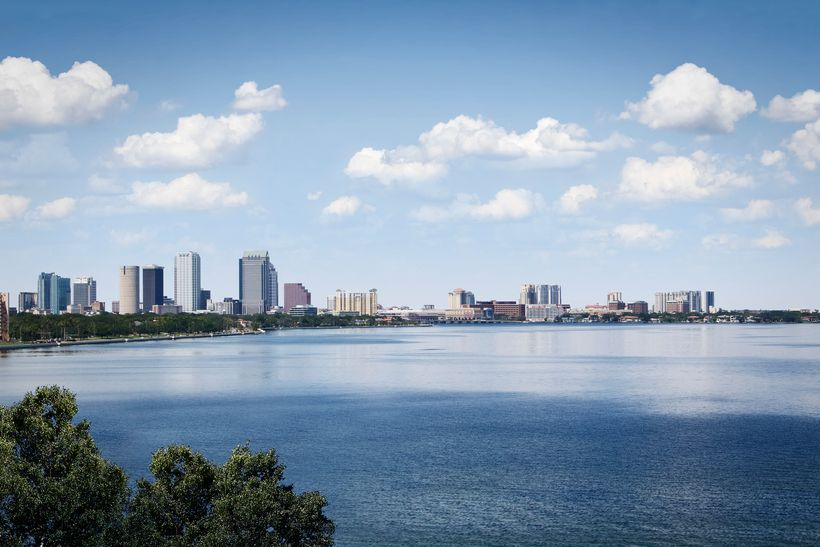 Tampa's skyline before the project breaks ground.