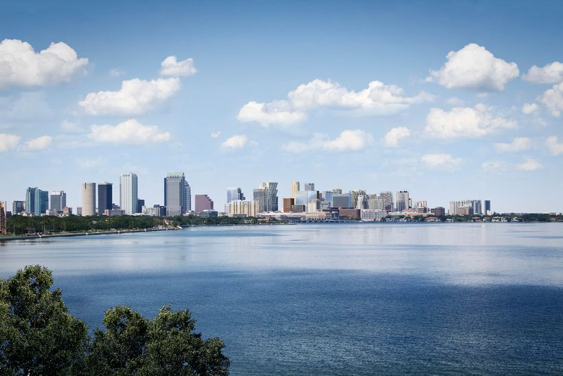 The proposed changes to Tampa's skyline after the project is complete.