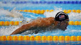 2016 Rio Olympics - Swimming - Final - Men's 4 x 100m Medley Relay Final - Olympic Aquatics Stadium - Rio de Janeiro, Brazil - 13/08/2016. Michael Phelps (USA) of USA competes.  REUTERS/Michael Dalder FOR EDITORIAL USE ONLY. NOT FOR SALE FOR MARKETING OR ADVERTISING CAMPAIGNS.
