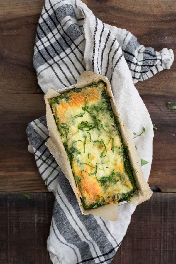 "<strong>Get the <a href=""https://naturallyella.com/zucchini-lasagna/"" target=""_blank"">Zucchini Pesto Lasagna recipe</a>"