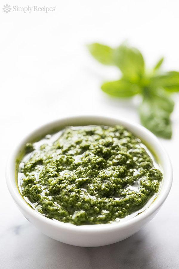 """<strong>Get the <a href=""""http://www.simplyrecipes.com/recipes/fresh_basil_pesto/"""" target=""""_blank"""">Fresh Basil Pesto recipe</a"""