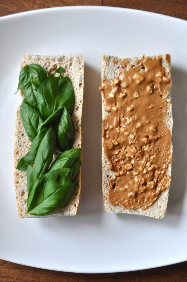 "<strong>Get the <a href=""https://minimalistbaker.com/peanut-butter-and-basil-sandwich/"" target=""_blank"">Peanut Butter Basil S"