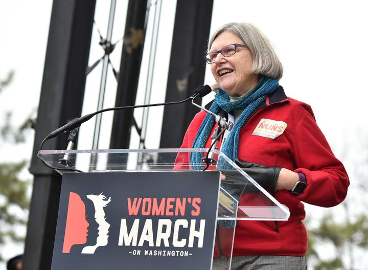 Sister Simone Campbell, speaking at January's Women's March on Washington, wrote the letter strongly opposing the Republican