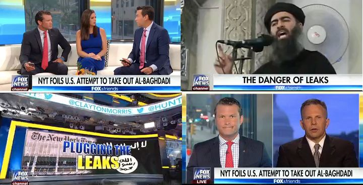 """A """"Fox & Friends Weekend"""" co-host questioned the patriotism of New York Times journalists."""