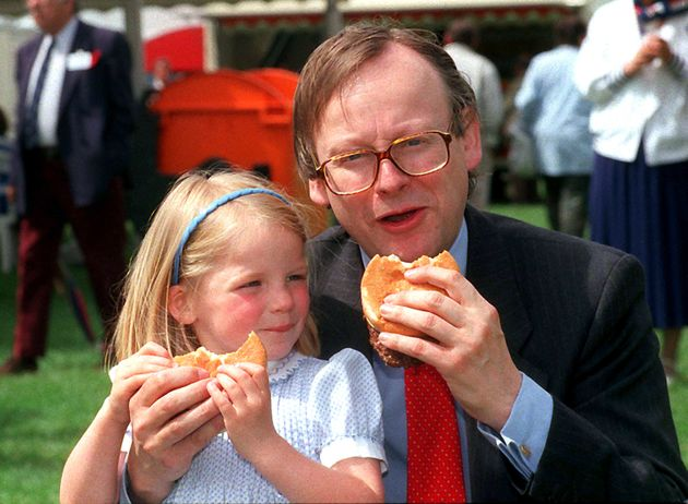 John Gummer and his four-year-old daughter Cordelia in