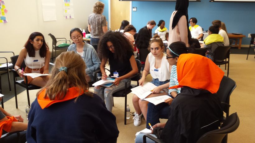 Students participating in the Conflict Resolution Youth Summit, George Mason University, 7/20/17