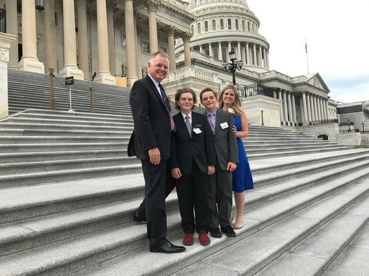 The Pages -- Buck, Max, Els and Jennifer at Capitol Hill.