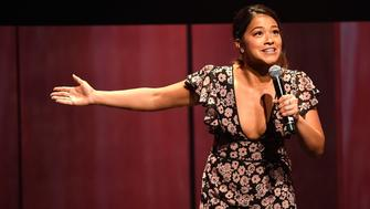 NEW YORK, NY - MAY 18:  (Exclusive Coverage) Gina Rodriguez speaks onstage during The CW Network's 2017 Upfront at New York City Center on May 18, 2017 in New York City.  (Photo by Kevin Mazur/Getty Images for The CW)