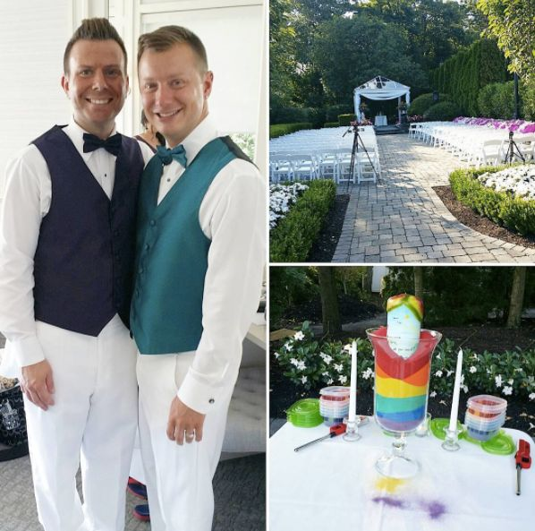 """I had the honor to officiate Ryan and Matt's wedding at The Mill Lakeside Manor."" -- <i>Andrea Purtell</i>"