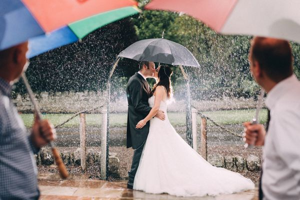 """Rebecca and Paul got married at Doxford Barns, Northumberland on July 22. It rained all day long but it didn't stop us from"