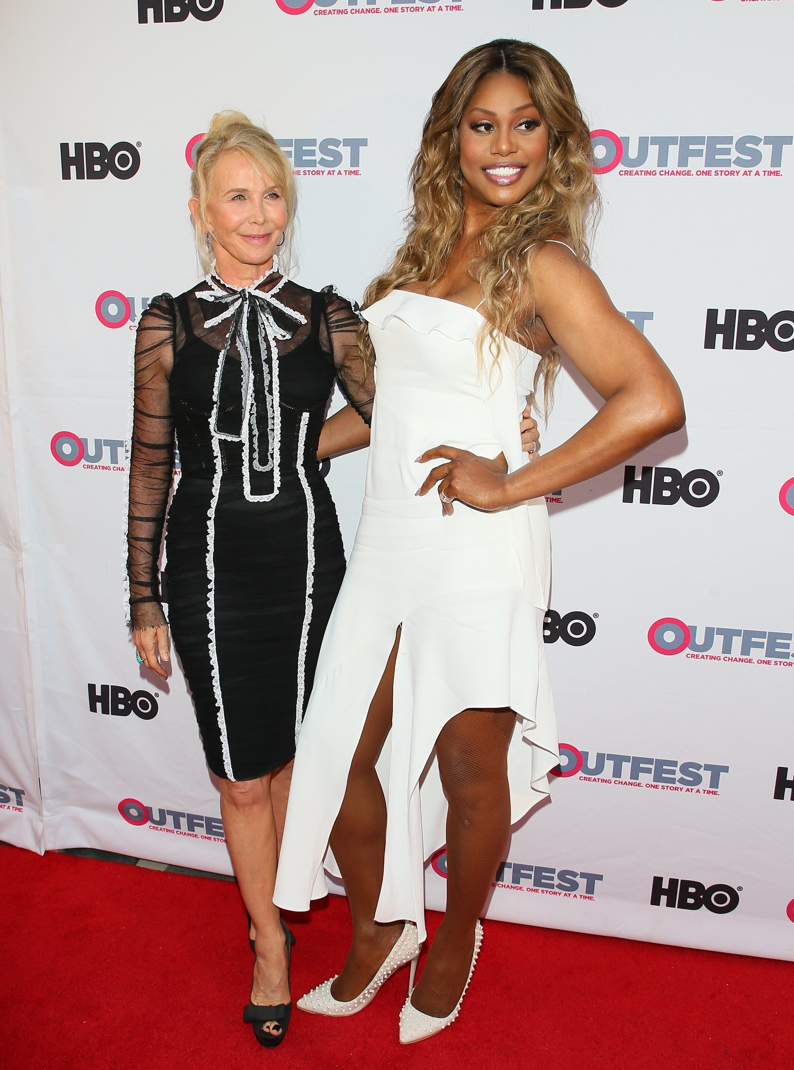 LOS ANGELES, CA - JULY 16: Trudie Styler and Laverne Cox attend the 2017 Outfest Los Angeles LGBT Film Festival - Closing Night Gala Screening Of ''Freak Show' on July 16, 2017 in Los Angeles, California. (Photo by JB Lacroix/WireImage)