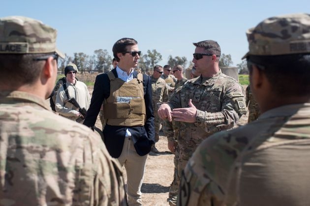 Jared Kushner on a visit to Iraq in