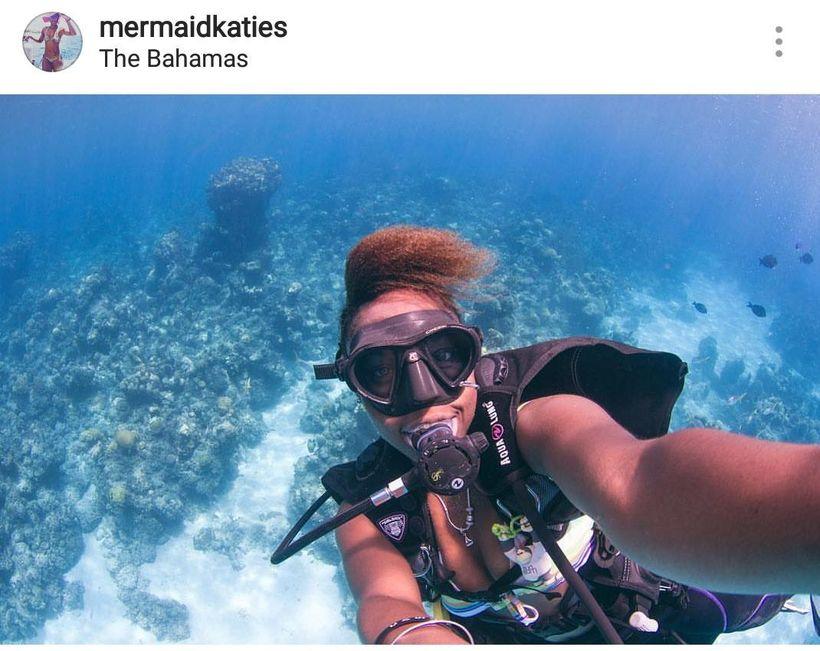 Katie Storr, the Bahamian Mermaid