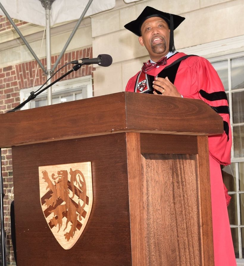 Dean Sullivan at Harvard's Commencement (Diploma Ceremony, Winthrop House).