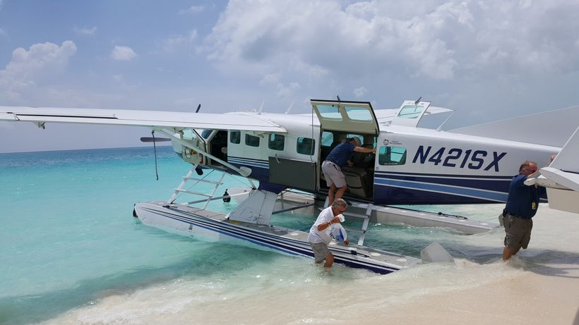 Unloading at Carriearl after a water landing