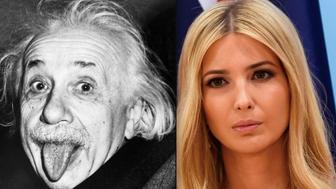 Albert Einstein and Ivanka Trump