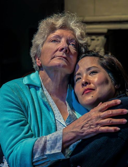 Phoebe Moyer (Annis) and Julie Kurabawa (LD) in a scene from <strong><em>Winter</em></strong>