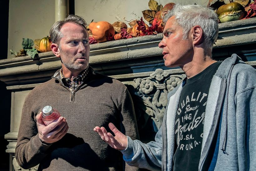 John Patrick Moore (Roddy) and Steve Budd (Evan) in a scene from <strong><em>Winter</em></strong>