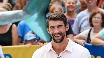 NEW YORK, NY - JULY 20: Olympic Swimmer Michael Phelps is seen during the 'Good Morning America' taping at the ABC Times Square Studios on July 20, 2017 in New York City. (Photo by Vanessa Carvalho/Brazil Photo Press/LatinContent)