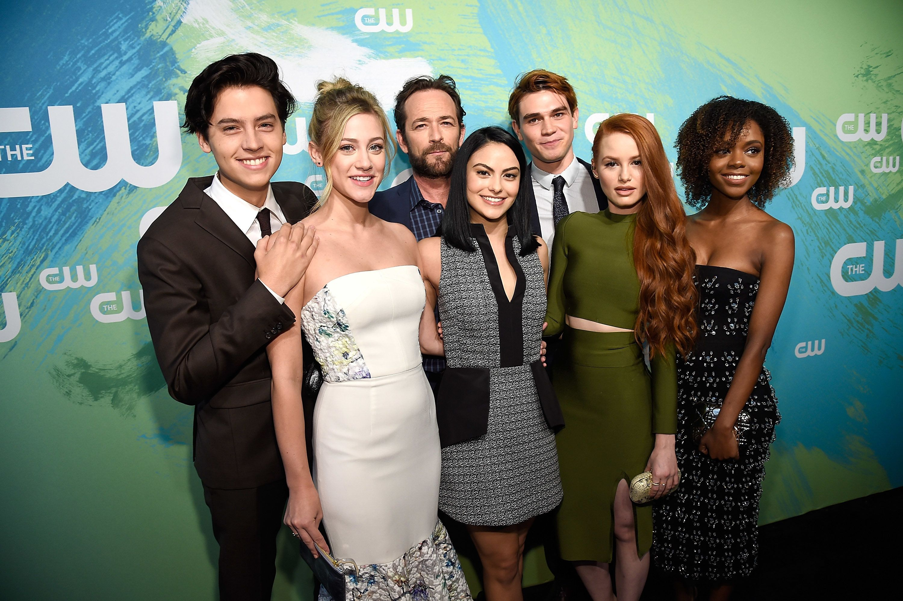 NEW YORK, NY - MAY 19:  Cole Sprouse, Lili Reinhart, Luke Perry, Camilla Mendes,  KJ Apa, Madelaine Petsch and Ashleigh Murray attend The CW Network's 2016 Upfront  at The London Hotel on May 19, 2016 in New York City.  (Photo by Kevin Mazur/Getty Images for The CW)
