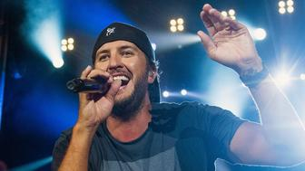 BROOKLYN, MI - JULY 23:  Luke Bryan performs during Faster Horses Festival at Michigan International Speedway on July 23, 2017 in Brooklyn, Michigan.  (Photo by Erika Goldring/WireImage)