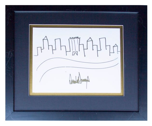 Donald Trump Signed Drawing of the New York City