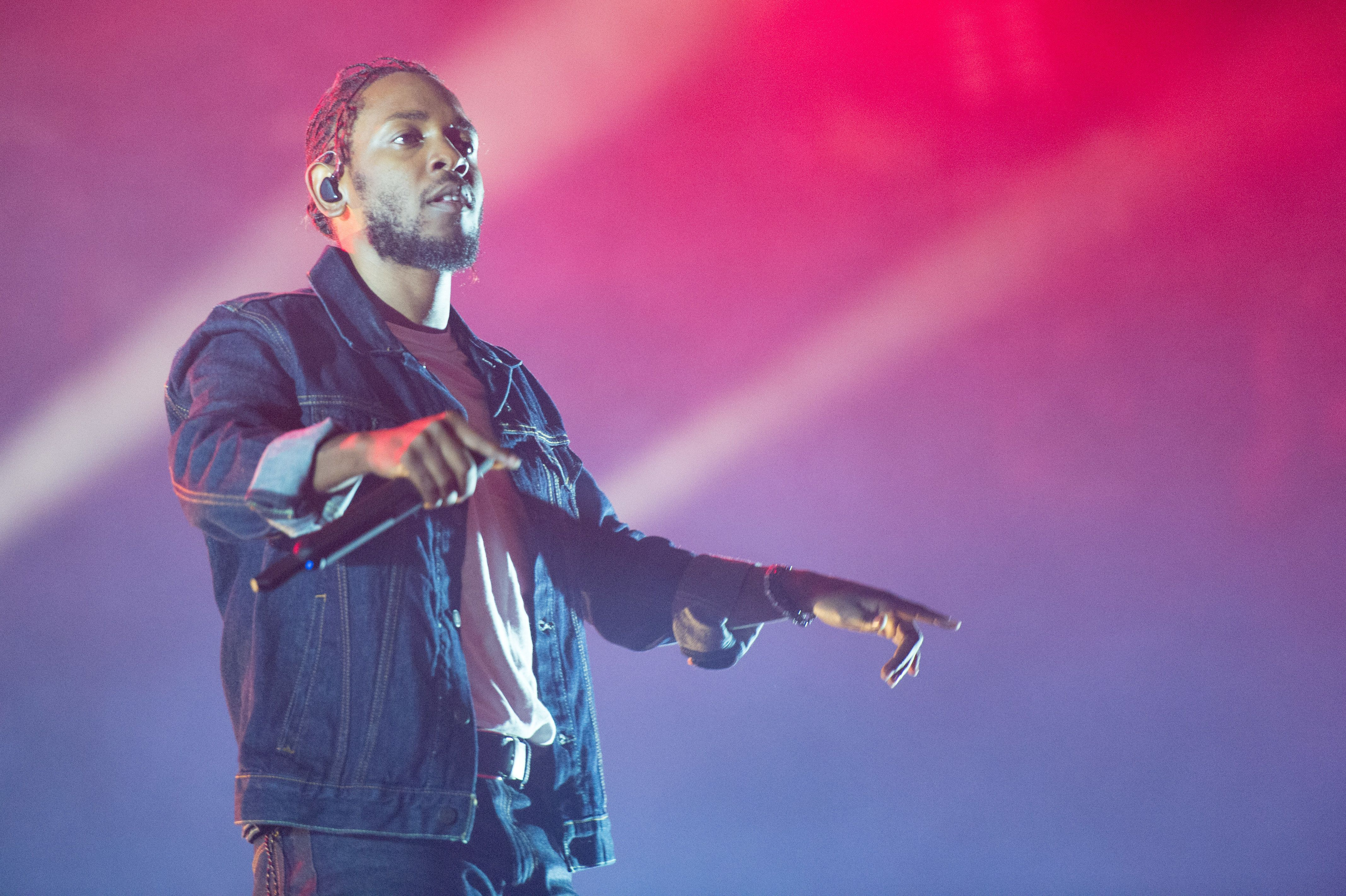 QUEBEC CITY, QC - JULY 07:  Kendrick Lamar performs onstage headlining Day 2 of the 50th Festival D'ete De Quebec on the main stage at the Plaines D'Abraham on July 7, 2017 in Quebec City, Canada.  (Photo by Ollie Millington/Redferns)