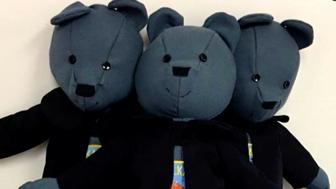 When Michigan police officer Cody Gray was trying to figure out a way to recycle old uniforms his wife Eva suggested making them into teddy bears