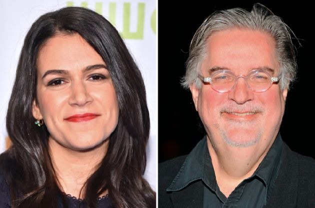 Abbi Jacobson and Matt Groening at teaming