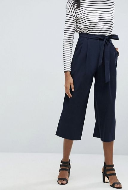 "The perfect transitional pant for summer to fall. <a href=""http://us.asos.com/asos/asos-tailored-culotte-with-tie-waist/prd/8"