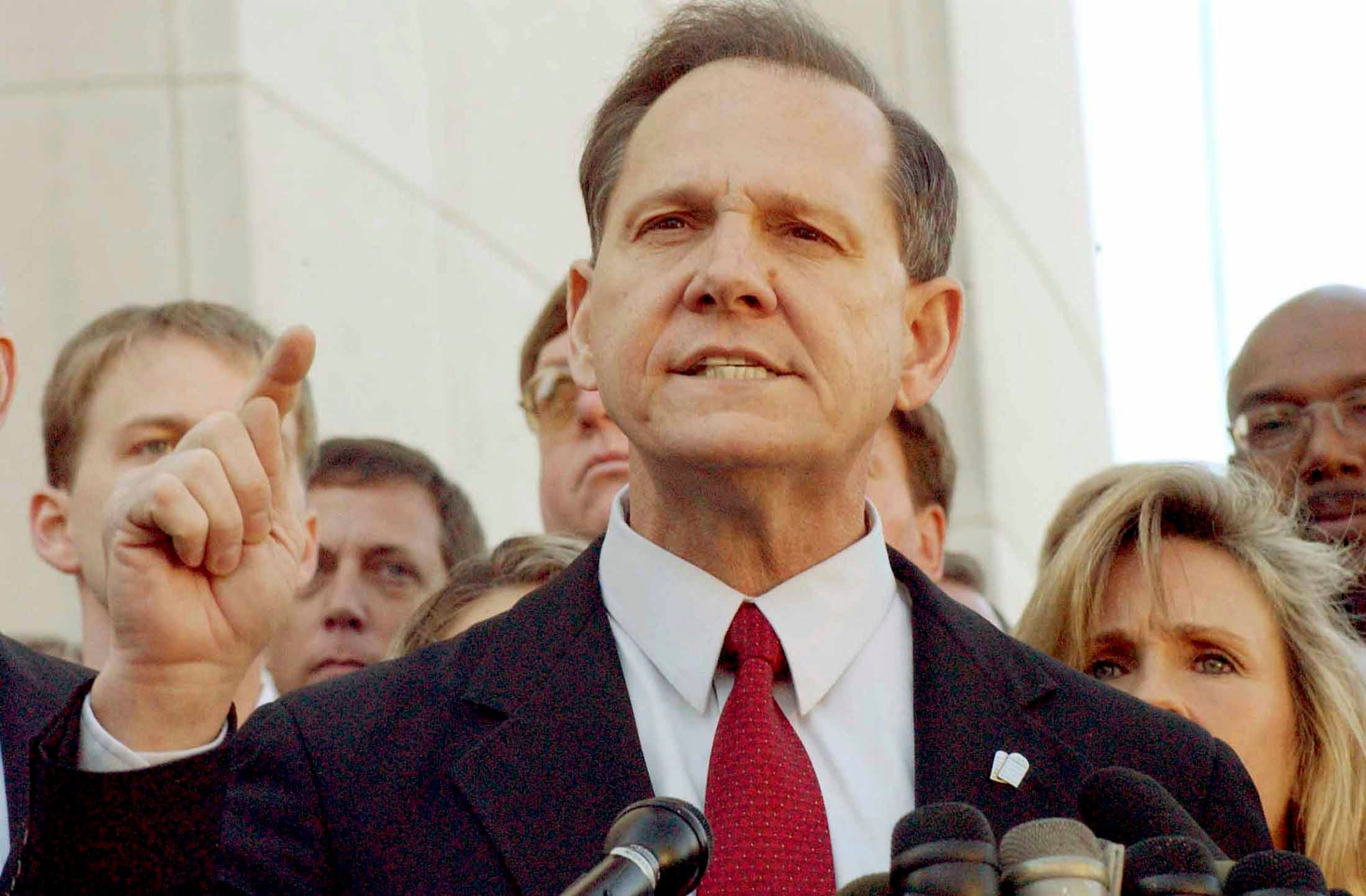 Senate candidate Roy Moore tolda Republican group in Alabama on Monday that Islam is a