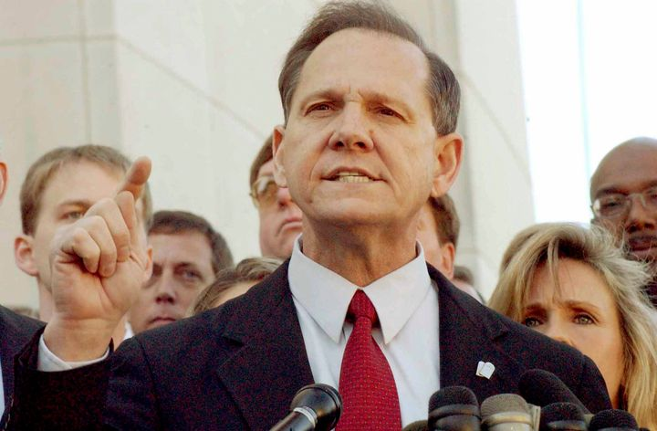 """Senate candidate Roy Moore tolda Republican group in Alabama on Monday that Islam is a """"false religion."""""""