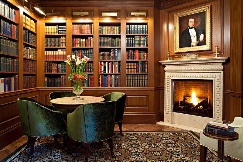 The Jefferson's Book Room includes vintage volumes the third president might have read in his day.