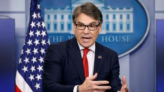 U.S. Energy Secretary Rick Perry speaks to reporters during a briefing at the White House in Washington, U.S., June 27, 2017.  REUTERS/Kevin Lamarque