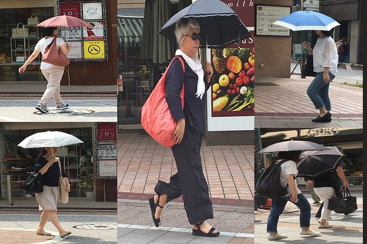 Carrying a parasol is a normal part of summer for Japanese women.