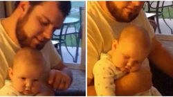 Dad Sends Baby To Sleep In One Swift Motion In Brilliant Parenting