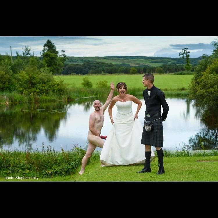 Naked Man Gives Couple Wedding Day To Remember With Hilarious