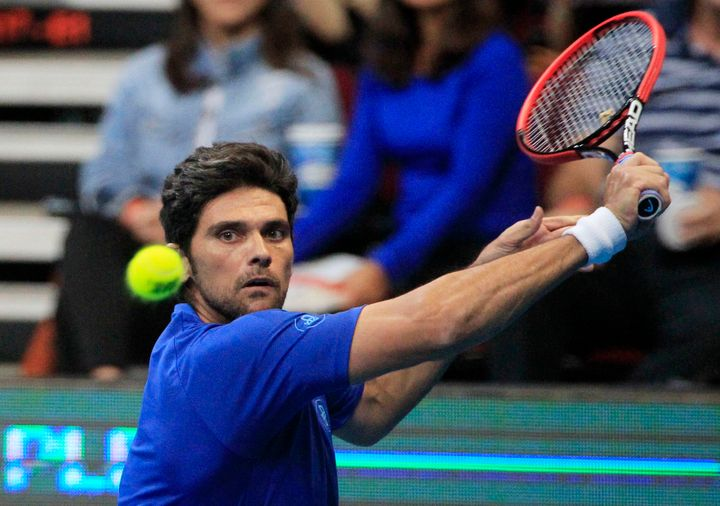 Former No. 8-ranked tennis player Mark Philippoussis, pictured in 2014, is not a suspect in the case of his father, police sa