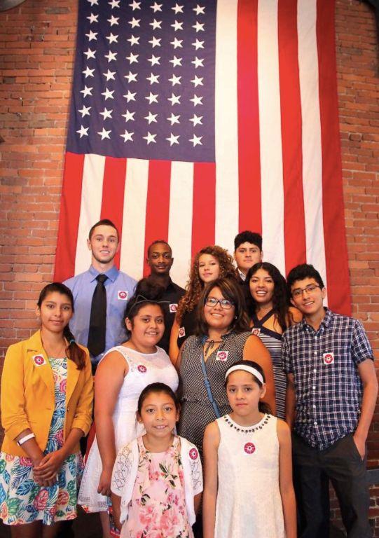 Casa San Jose community members celebratea naturalization ceremony at the Heinz History Centerthis year.
