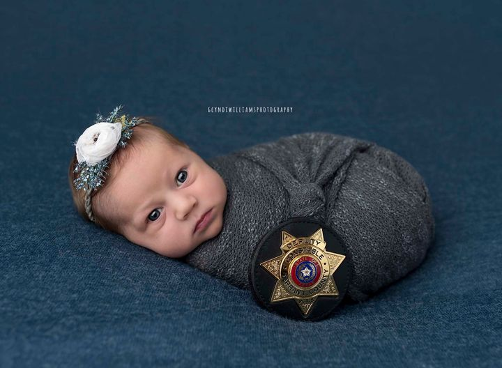 Kind Cop Attends Tiny Tea Party To Celebrate 1st Birthday Of Baby He Delivered