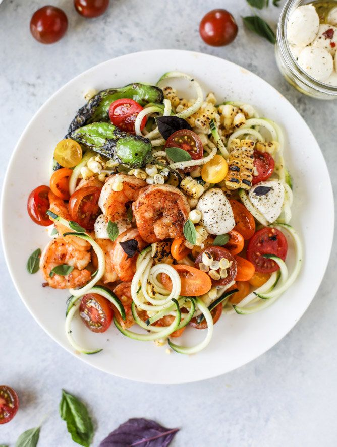 """<strong>Get the <a href=""""http://www.howsweeteats.com/2017/07/summer-shrimp-zoodle-bowls/"""" target=""""_blank"""">Summer Shrimp Zoodl"""