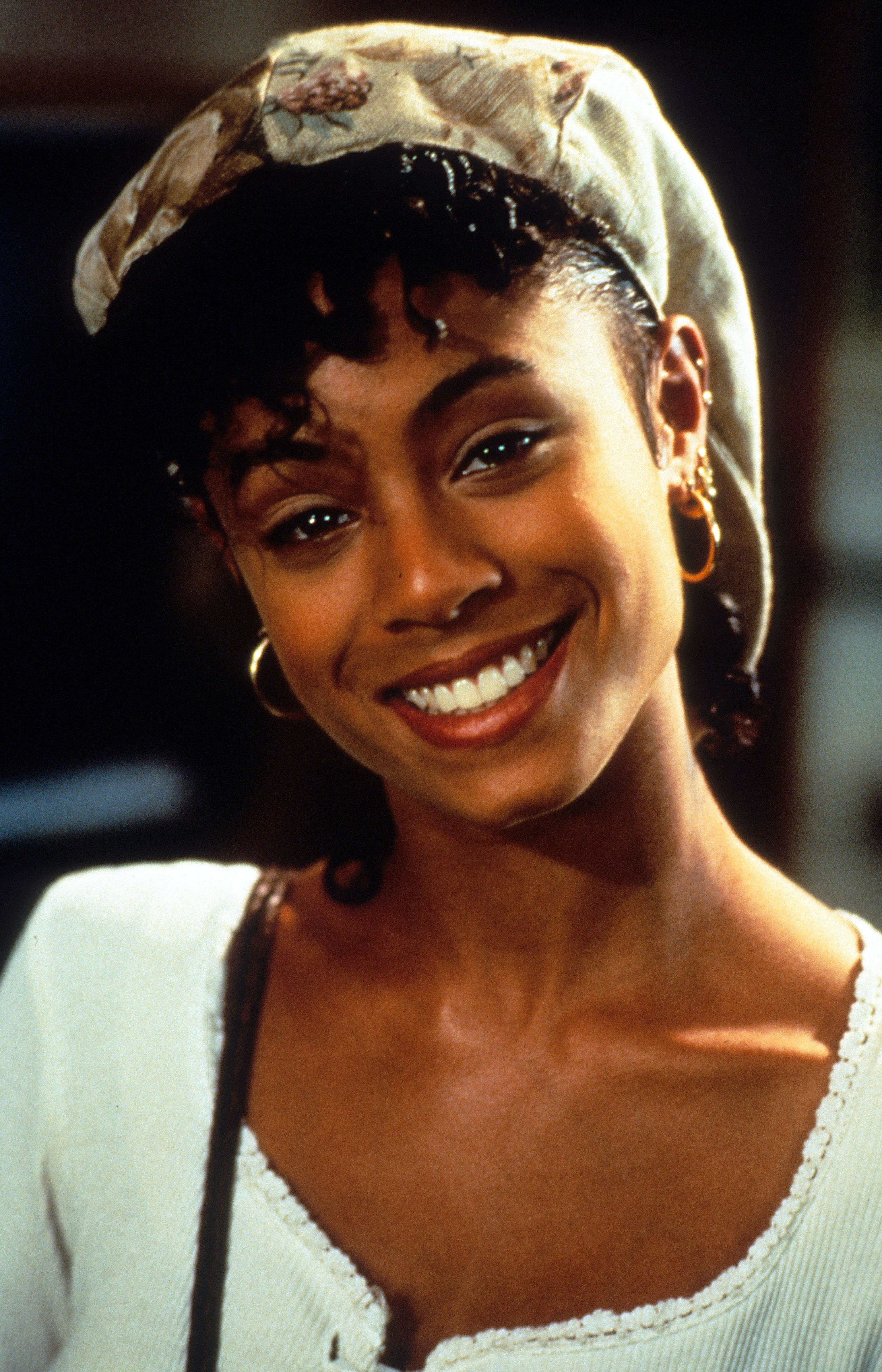 Jada Pinkett Smith on set of the film 'Jason's Lyric', 1994. (Photo by Gramercy/Getty Images)