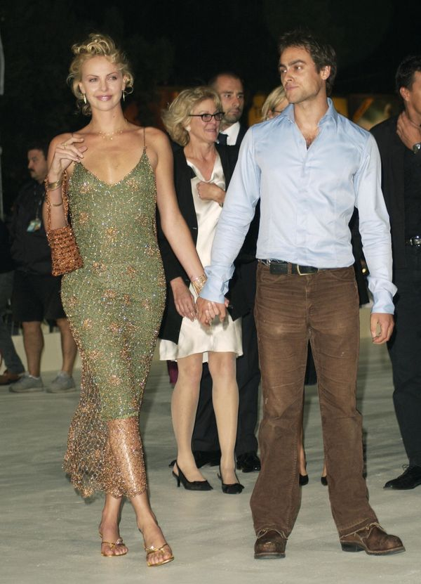 With Stuart Townsend in Venice Lido, Italy.