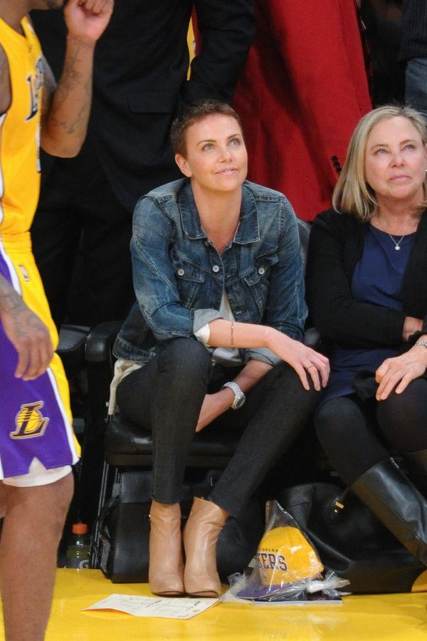 At a Los Angeles Lakers basketball game.