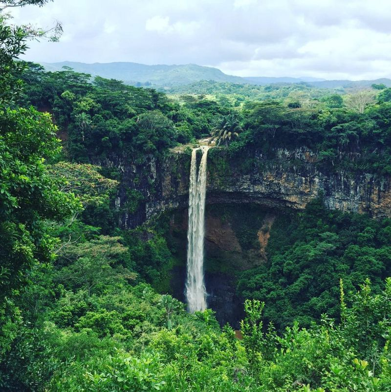 Waterfall chasing in Mauritius. Location: Chamarel Waterfall