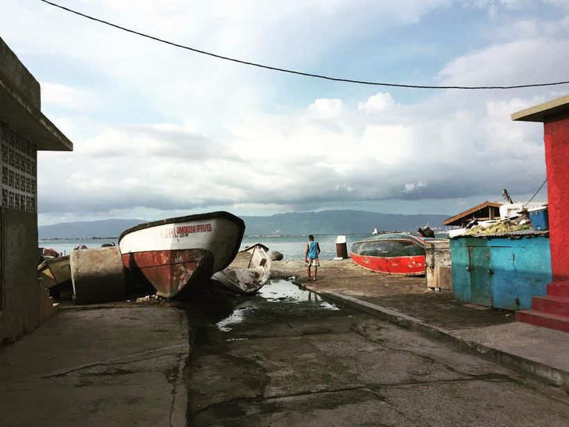 Super local spot boat docks way out of town. Location:  Kingston, Jamaica.