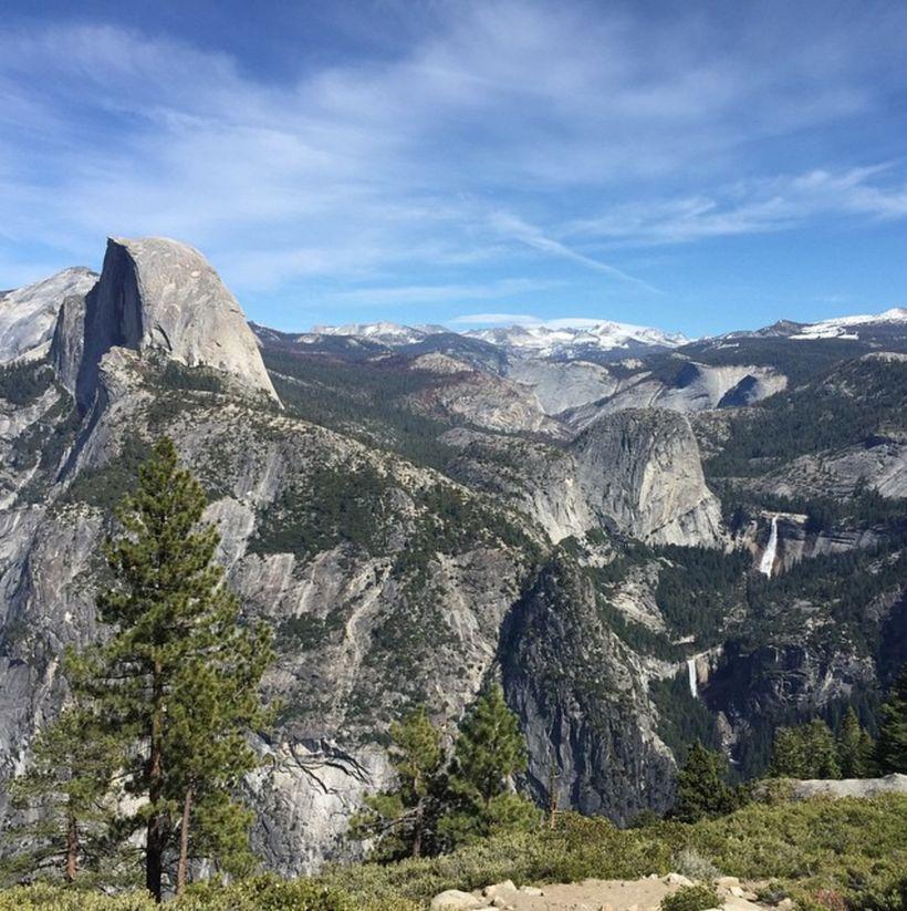 Beautiful view of Half Dome. Location: Yosemite, CA.