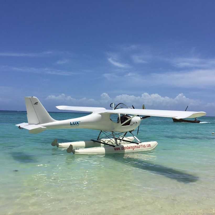 Accidentally swam into this sea plane. Landed a bit too close.  Location: Trou aux Biches Beachcomber