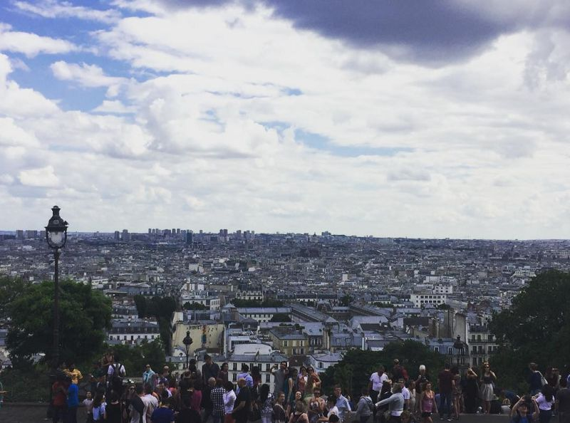 Walked all the way up to Sacré-Cœur to enjoy this view. Location: Paris, France